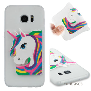 Cute Unicorn coque sFor Ajax Samsung S7