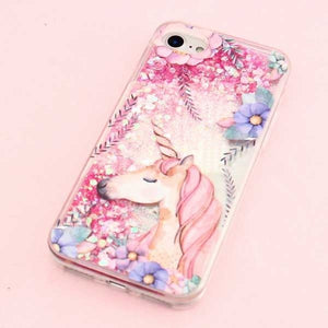 Cute Unicorn Flower coque  Unicorn