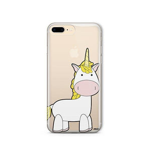 Cute Unicorn iPhone 8 coque Clear - Milkyway