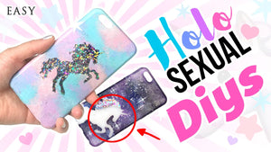 DIY HOLOSEXUAL Unicorn Phone coques