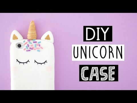 DIY VIRAL UNICORN PHONE coque! - YouTube