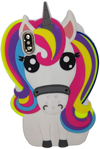 Fashion 3d Silicone Unicorn coque