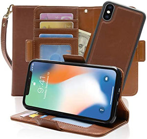 Folio Flip Stand Leather Wallet coque