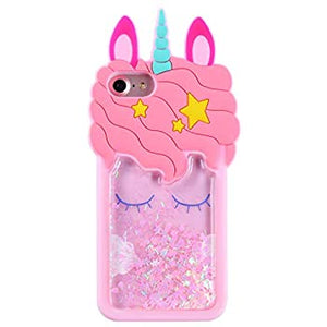 For iPhone 5 3D silicone unicorn coque