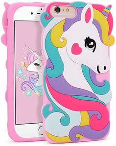 For iPhone 6S coque Colorful Unicorn