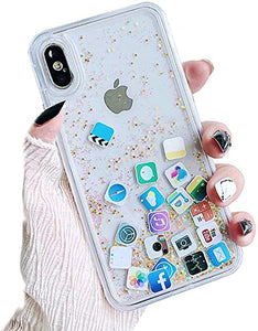 Glitter Liquid Hard Phone coque coque
