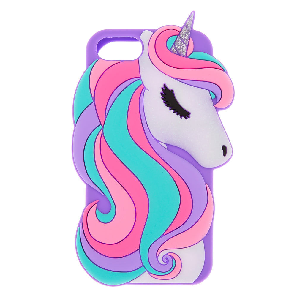Glitter Unicorn Silicone Phone coque