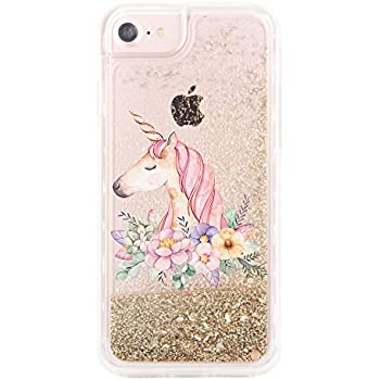 Glitter Unicorn iPhone 6 Plus coque ($28