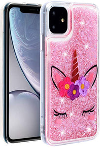 HMTECHUS iPhone 11 coque Glitter Liquid