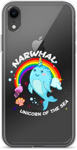 Magical Unicorn Clear iPhone coque