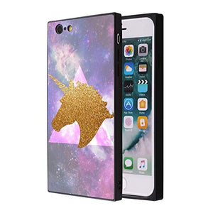 Phone coque with triangles and unicorn