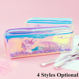 Pink Glitter Unicorn Pencil coque