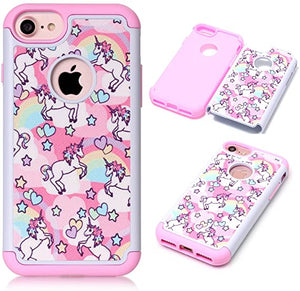 Pink Unicorn coque for iPhone 8