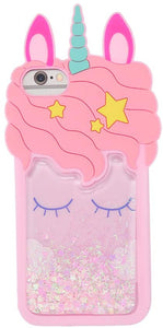 Pink liquid unicorn iPhone 5c coque