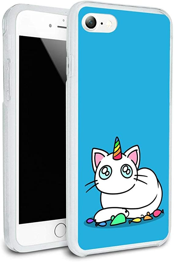 Rainbow Unicorn Cat Phone coque - Fits