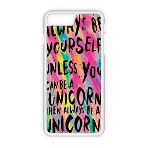 Rainbow Unicorn Quote iPhone 7 coque
