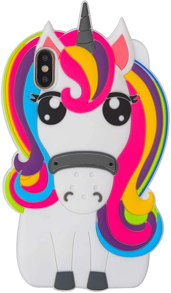 Rainbows and Unicorns iPhone XR coque