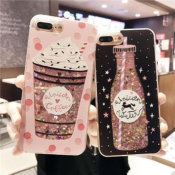 Shop Glitter Water iPhone coque on Wanelo