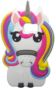 Silicone coque Cute Rainbow Unicorn