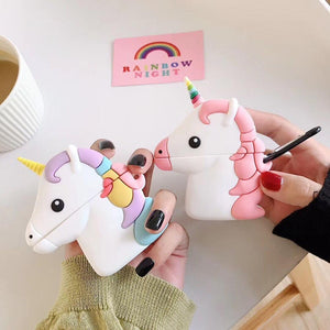 Silicone Unicorn Airpods coque  Unicorn