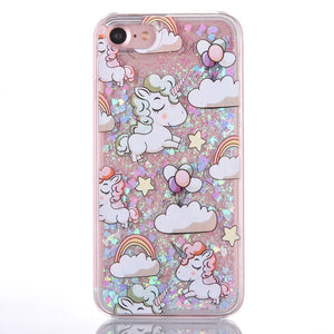 UNICORN GLITTER iPhone coque by