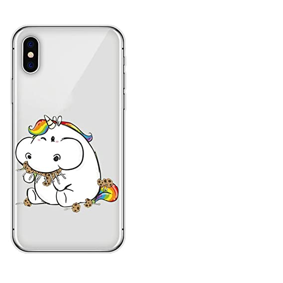 Unicorn Cartoon Clear coque Iphone