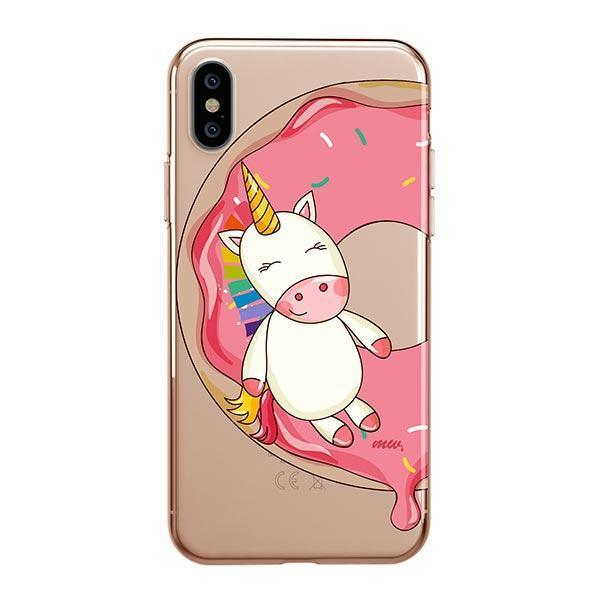 Unicorn Donut iPhone XS Max Clear coque
