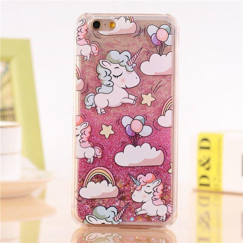 Unicorn Liquid Glitter Sand Phone coque