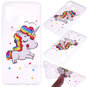 Unicorn Pattern Printing TPU coque with