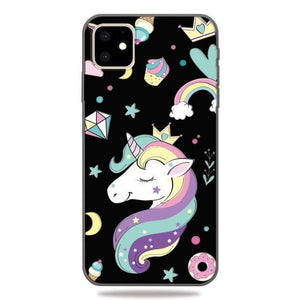 Unicorn Pattern TPU Mobile coque with