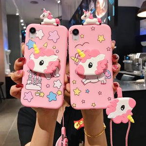 Unicorn Pink iPhone coque - Well Pick