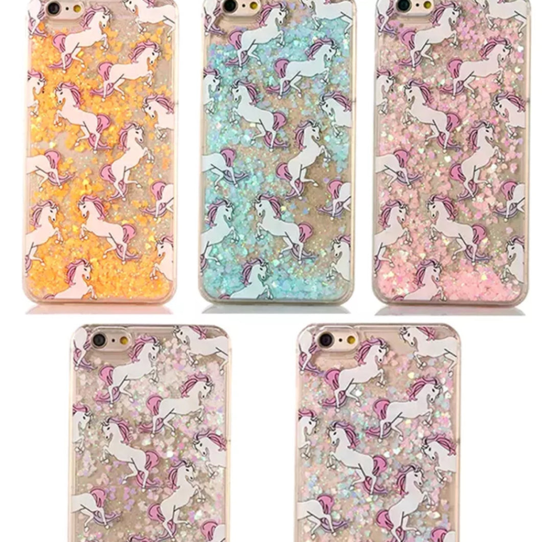 Wooo wow!!! Glitter UNICORN phone coque