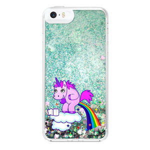 fart iPhone 5/5s Glitter clear coque