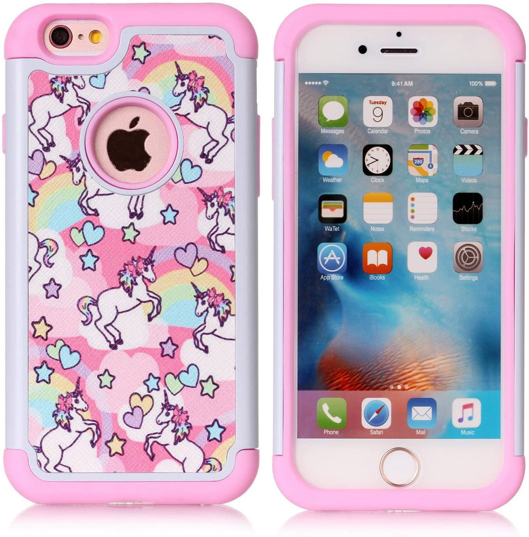 iPhone 6/6S Plus coque - Unicorns - Mr