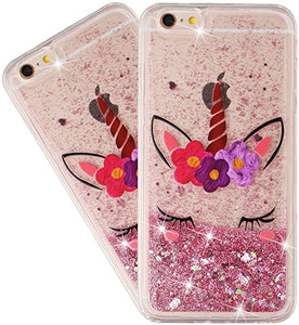 iPhone 6/6s Unicorn glitter liquid coque