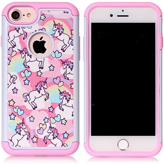 iPhone 7 / iPhone 8 Hybrid coque - Unicorn