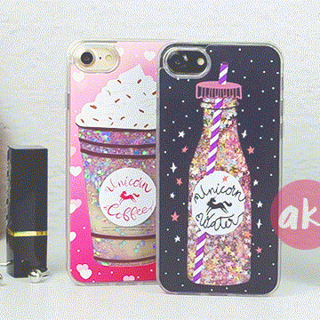 iPhone coque: Liquid Glitter Unicorn