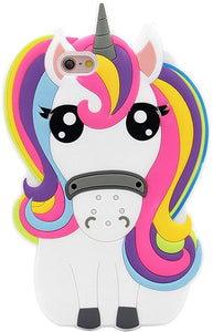 iPhone Rainbow Unicorn Silicone coque