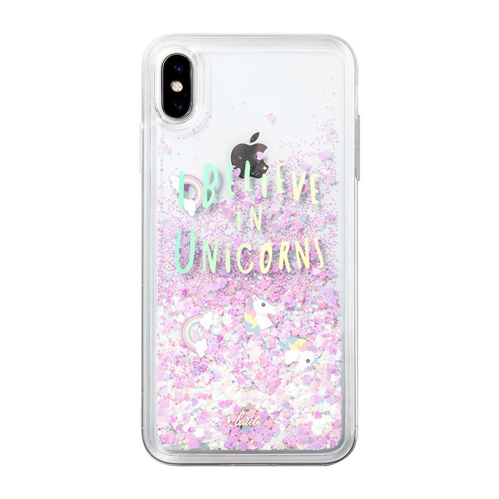 iPhone XS Glitter coque - Unicorns