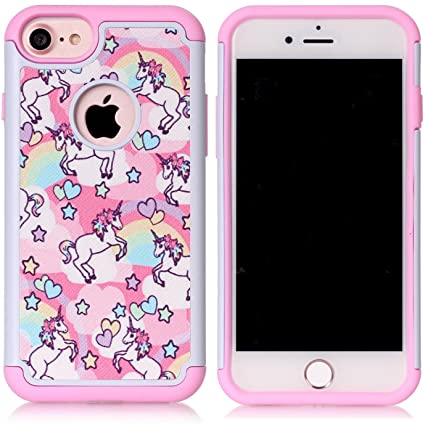 iphone 7 phone coques unicorn
