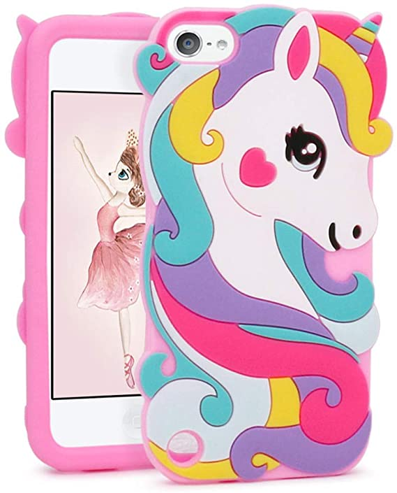 ipod touch 5 6 3d unicorn liquid coque