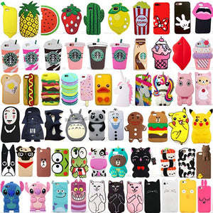 max 3D Cute Cartoon Soft Silicone coque