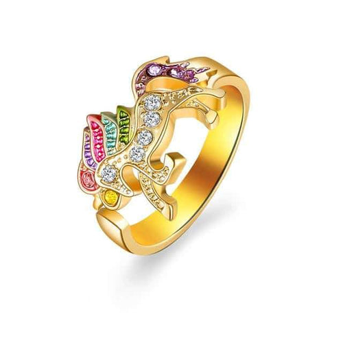 bague licorne etsy, Bague licorne <br> couleur or - frdujiaoshou1