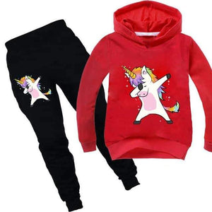 ensemble licorne, Ensemble licorne survêtement rouge dab - frdujiaoshou1
