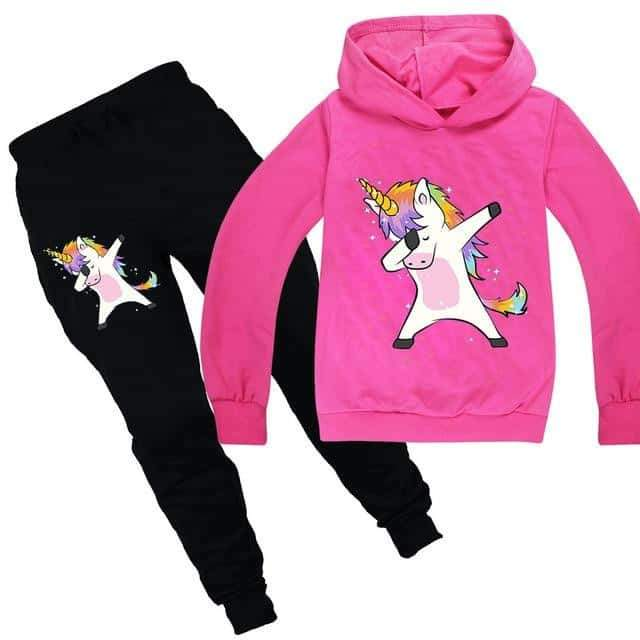 ensemble licorne, Ensemble licorne survêtement rose dab - frdujiaoshou1