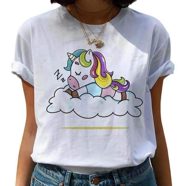 t shirt licorne pull and bear, Tee shirt licorne <br> laisse moi dormir - frdujiaoshou1