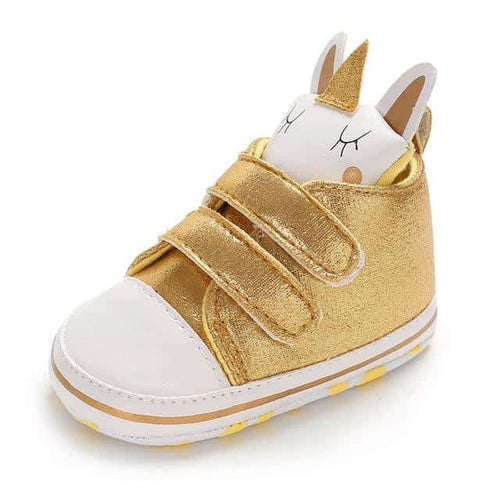chaussette licorne adulte, Chaussure licorne <br> bébé or - frdujiaoshou1
