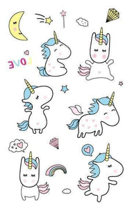 faux tatouage licorne, Tatouage licorne minion - frdujiaoshou1