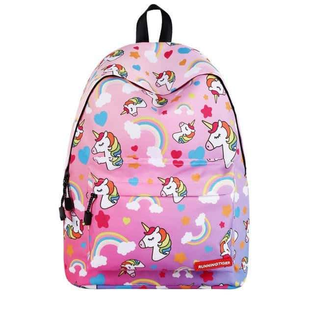 sac a dos licorne adulte, Cartable licorne <br> rose - frdujiaoshou1