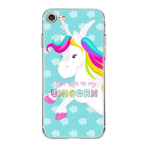 coque licorne iphone 5s silicone, Coque licorne iPhone<br>I flew here on my unicorn - frdujiaoshou1
